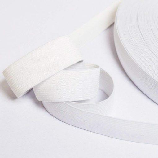 Ruban élastique blanc, largeur 25mm