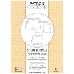 """Pack 3 tailles - T34, T36 et T38 - Patron Short """"Louison"""""""