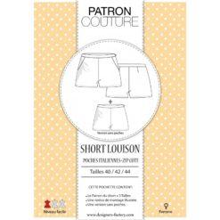 """Pack 3 tailles - T40, T42 et T44 - Patron Short """"Louison"""""""