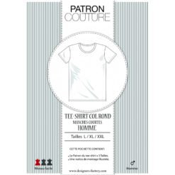 Patron Tee-shirt homme col rond - Manches courtes.