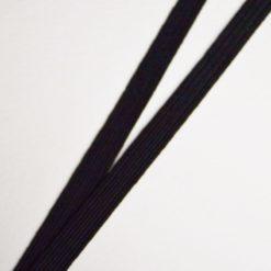 Ruban élastique noir, largeur 8mm