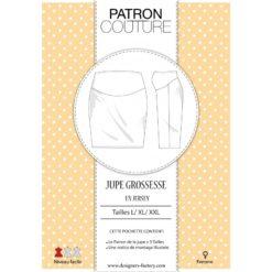 """Pack 3 tailles - L, XL et XXL - """"Patron de la jupe grossesse"""" en maille"""