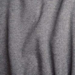 Tissu bord-cote coton-élasthanne gris
