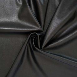 tissu simili cuir noir fin