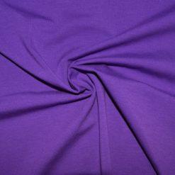 Tissu jersey coton-élasthanne uni violet