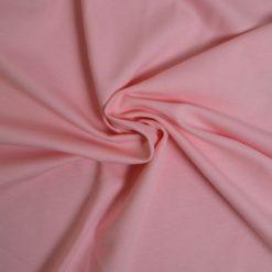 Tissu jersey coton-élasthanne uni rose