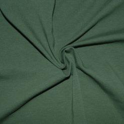 Tissu jersey coton-élasthanne uni kaki