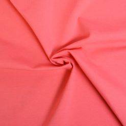 Tissu jersey coton-élasthanne uni corail