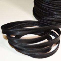 Passepoil satin noir, de belle qualité