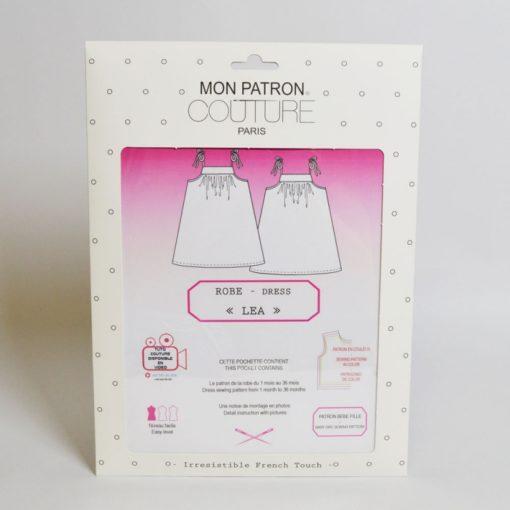 """Kit couture robe Léa - Du 1mois au 36mois - Patron + tissus & co """"Imprimé madras"""""""