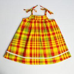 Kit couture robe Léa - Du 1mois au 36mois - Patron + tissus & co