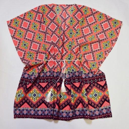 Kit couture Top Vanille couleur Corail - Patron + tissu & co - Femme - Du 34 au 44