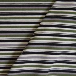 Tissu Jersey Coton-élasthanne imprimé rayé