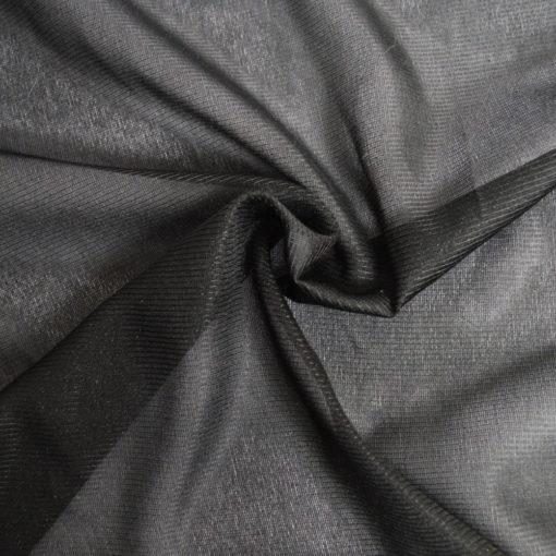 Thermocollant couture tissé et stretch noir