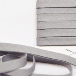 Biais coton gris clair de belle qualité