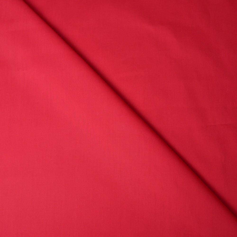 Tissu coton rouge Par coupon Tissu popeline 100/% coton rouge grenadine