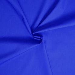 Tissu popeline coton bleu roi de belle qualité