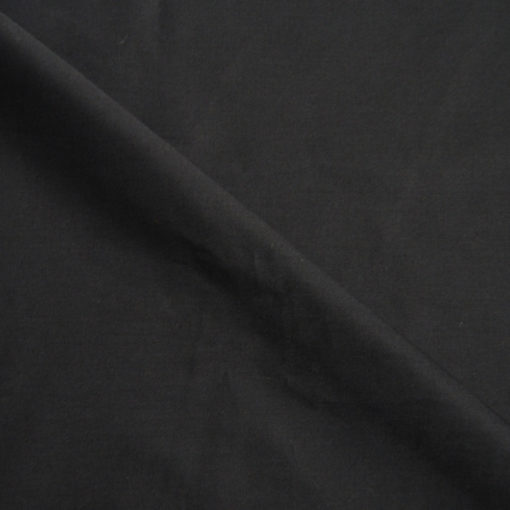 Tissu popeline 100% coton noir, de belle qualité