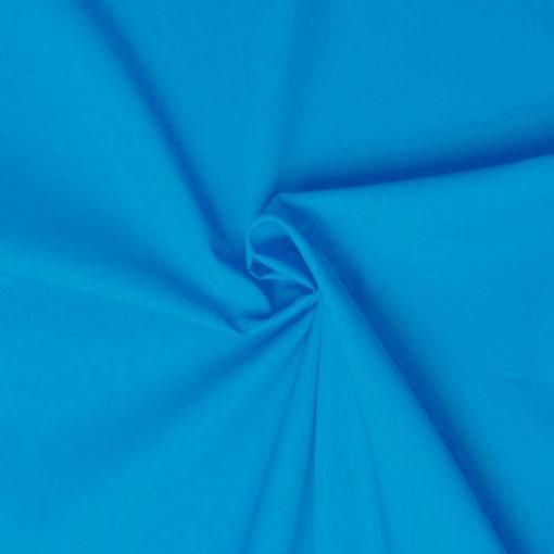 Tissu popeline coton turquoise de belle qualité