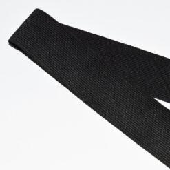 Ruban élastique noir côtelé, Largeur 40mm
