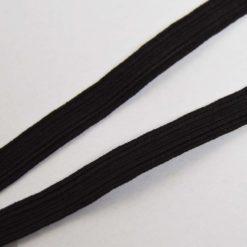Ruban élastique Noir côtelé, Largeur 1cm
