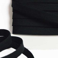 Biais coton noir de belle qualité