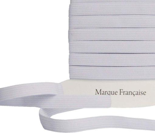Elastique plat 8mm blanc