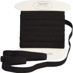 ruban élastique noir 8mm - designers-factory