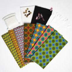 Lot de 7 Coupons Tissus imprimés [Oeko tex] 50 x 51cm + 2 Coupons Tissu Popeline de Coton