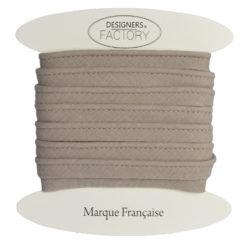 Passepoil coton taupe de belle qualité