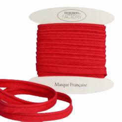passepoil coton rouge