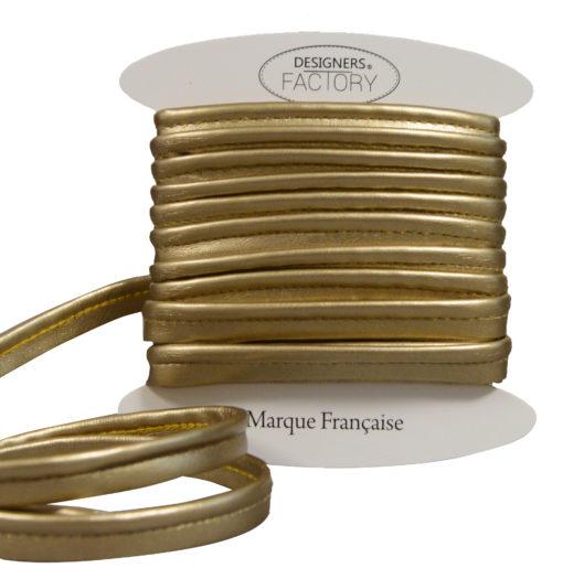 Passepoil simili cuir doré