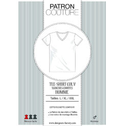 Patron Tee-shirt homme manches courtes, col V
