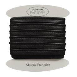Passepoil simili cuir noir brillant