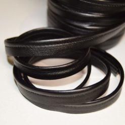 Passepoil simili cuir noir