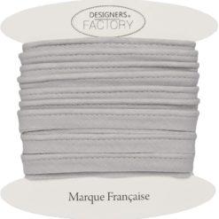 Passepoil coton gris