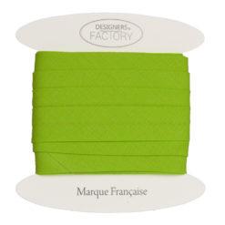 biais coton vert pomme