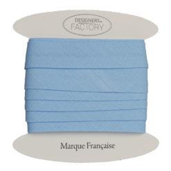 biais coton bleu layette