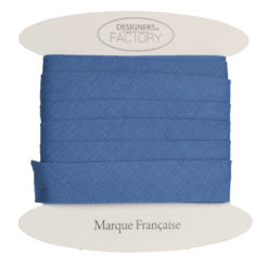 biais coton bleu indigo