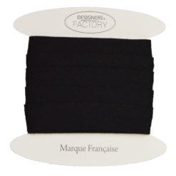biais coton noir