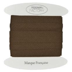 biais coton marron