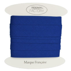 biais coton bleu roi