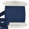 Cotone cucitura sbieco Blu navy