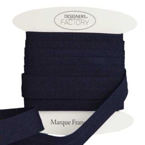 Cotone cucitura sbieco Blu scuro