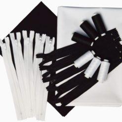 Lot tissus noir et blanc