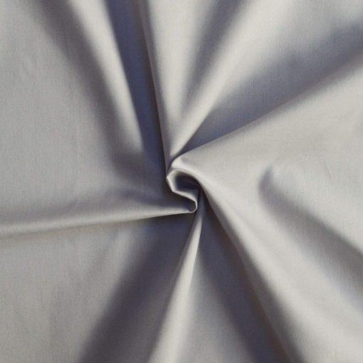 Tissu popeline coton gris