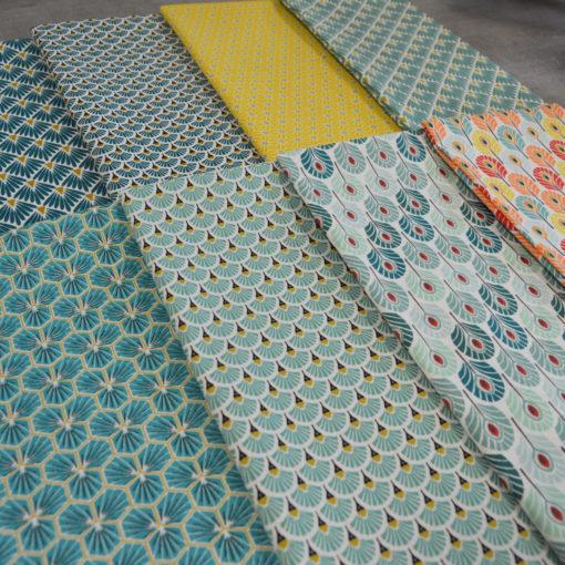 Lot de Coupons tissus imprimés oeko tex - designers-factory