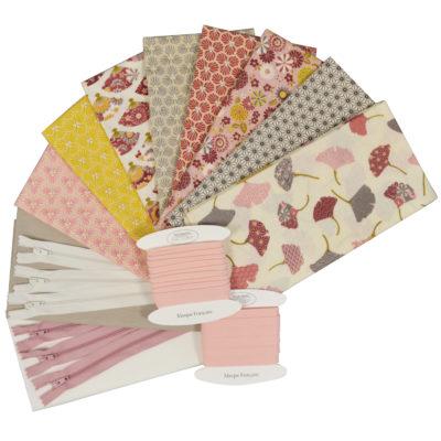 Lot de tissus coton - set assorti tissu et accessoires