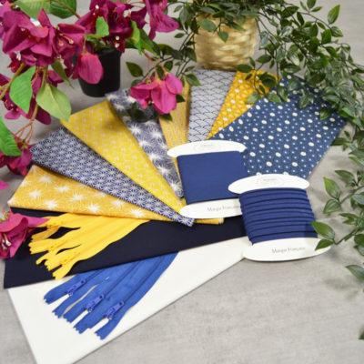 Lot de 8 coupons tissus coton de qualité - designers-factory