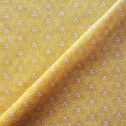 Tissu coton imprimé graphic jaune